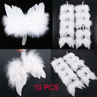 10Pcs White Feather ...