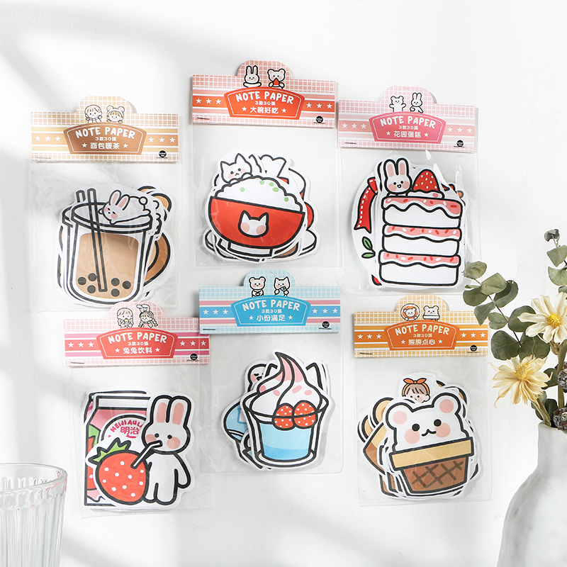 30pcs/lot Memo Pads Sticky Notes Tea Talk Daily Paper Notepad Daliy Scrapbooking Stickers Office School Stationery