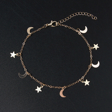 New Fashion Gold Color Moon Star Charms bracelet for Women Accessories Bracelets 4g