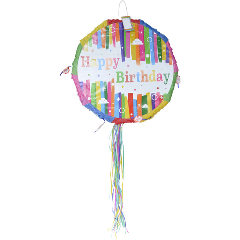 Quality Pinata Happy Birthday Theme Paper Folded Kids Favors Game Gifts Toys Children Birthday Party Gifts Decoration Supplies D