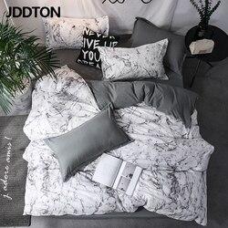 JDDTON-ensemble de literie Double côté classique | Ensemble de literie, Style concis, housse de couette, taie d'oreiller, housse de lit, 3 pièces/ensemble BE031,