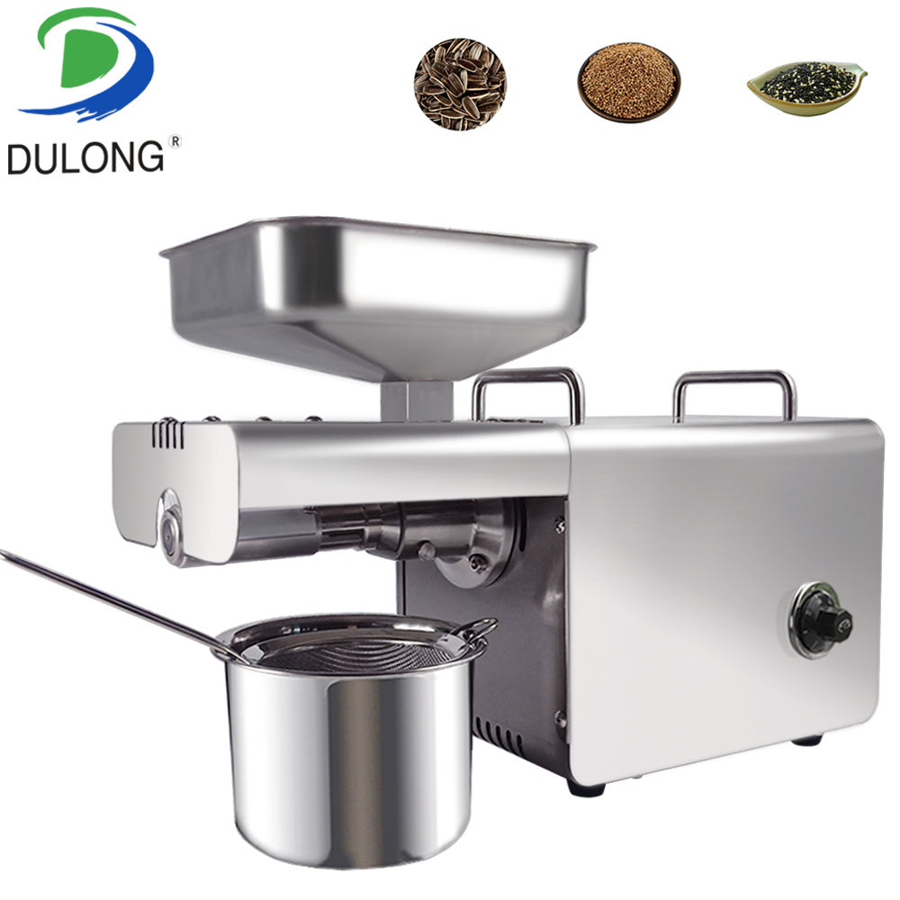 Small Oil Press Machine Stainless Steel Screw Peanut Oil Pressing Machine Pure Physical Press Oil Extraction Machine