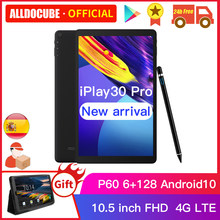 Alldocbe iplay30 pro 10.5 polegada android 10 tablet pc 6gb ram 128gb rom p60 mt 6771 comprimidos 1920*1200 4g lte phonecall iplay 30