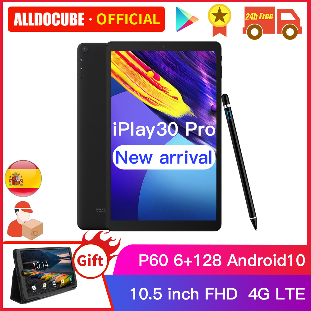 ALLDOCUBE iPlay30 Pro 10.5 pouces Android 10 tablette 6 go RAM 128 go ROM P60 MT 6771 tablettes 1920*1200 4G LTE phonecall iPlay 30