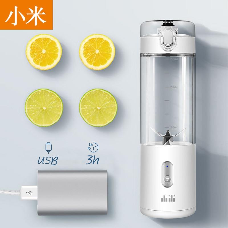 Xiaomi 380ml USB Rechargeable Portable Blender Mixer 6 Blades Juicer Juice Citrus Lemon Vegetable Fruit Smoothie Squeezers