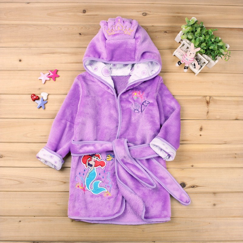 Children Pajamas Robe Kids Clothes Boys Girls Micky Minnie Bathrobes Baby Cartoon Home Wear Baby Clothing