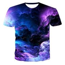 Camiseta de manga corta de cuello redondo para hombres, camiseta impresa 3D, azul, verde, rojo, púrpura, novedad de verano