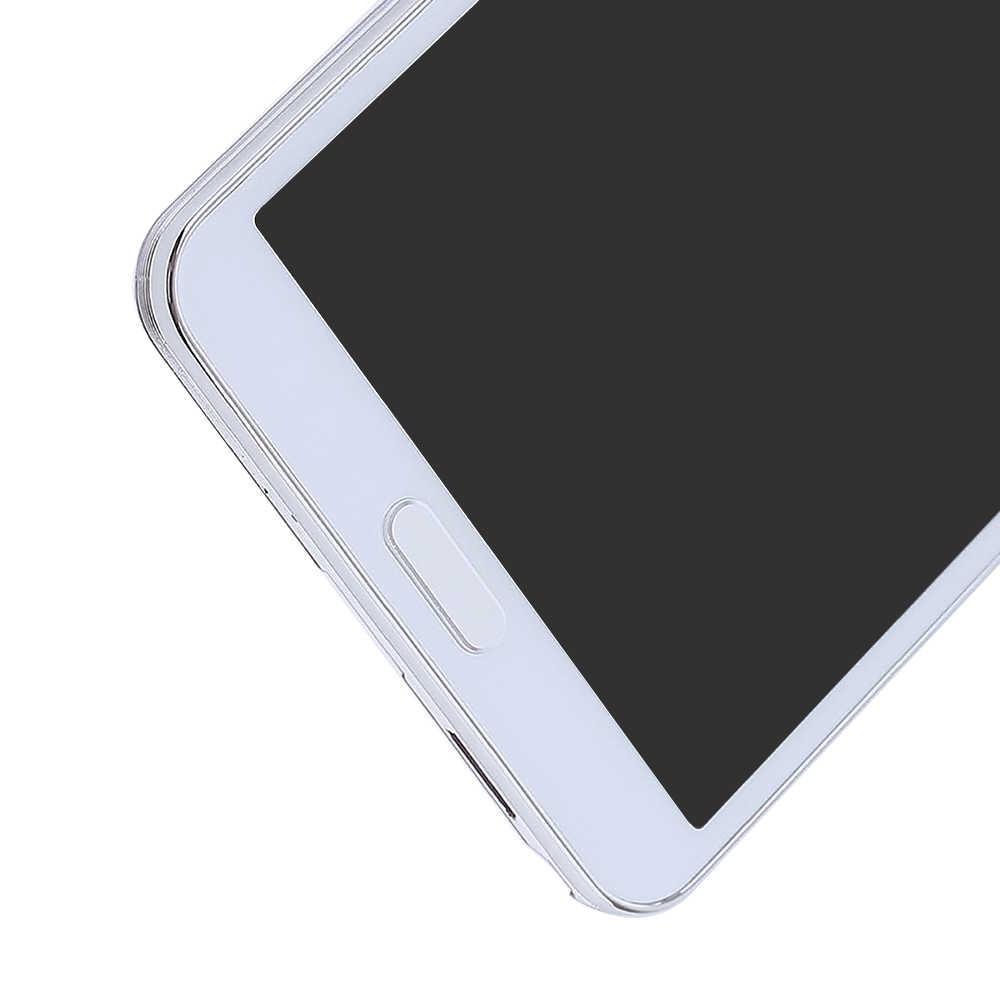 N9005 شاشات lcd لسامسونج غالاكسي ملاحظة 3 N9005 شاشة الكريستال السائل تعمل باللمس الجمعية محول الأرقام جزء ل samsung Note 3 عرض