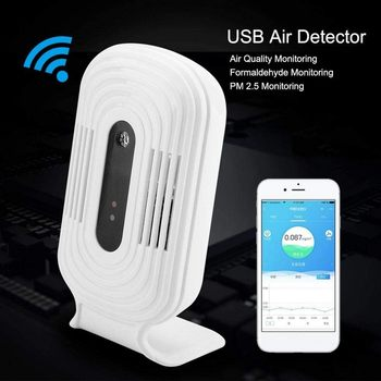 JQ-300 New Home Intelligent WIFI Smog Meter CO2 HCHO Air Quality Analysis Tester Detector Sensor Temperature Humidity Monitor цена 2017