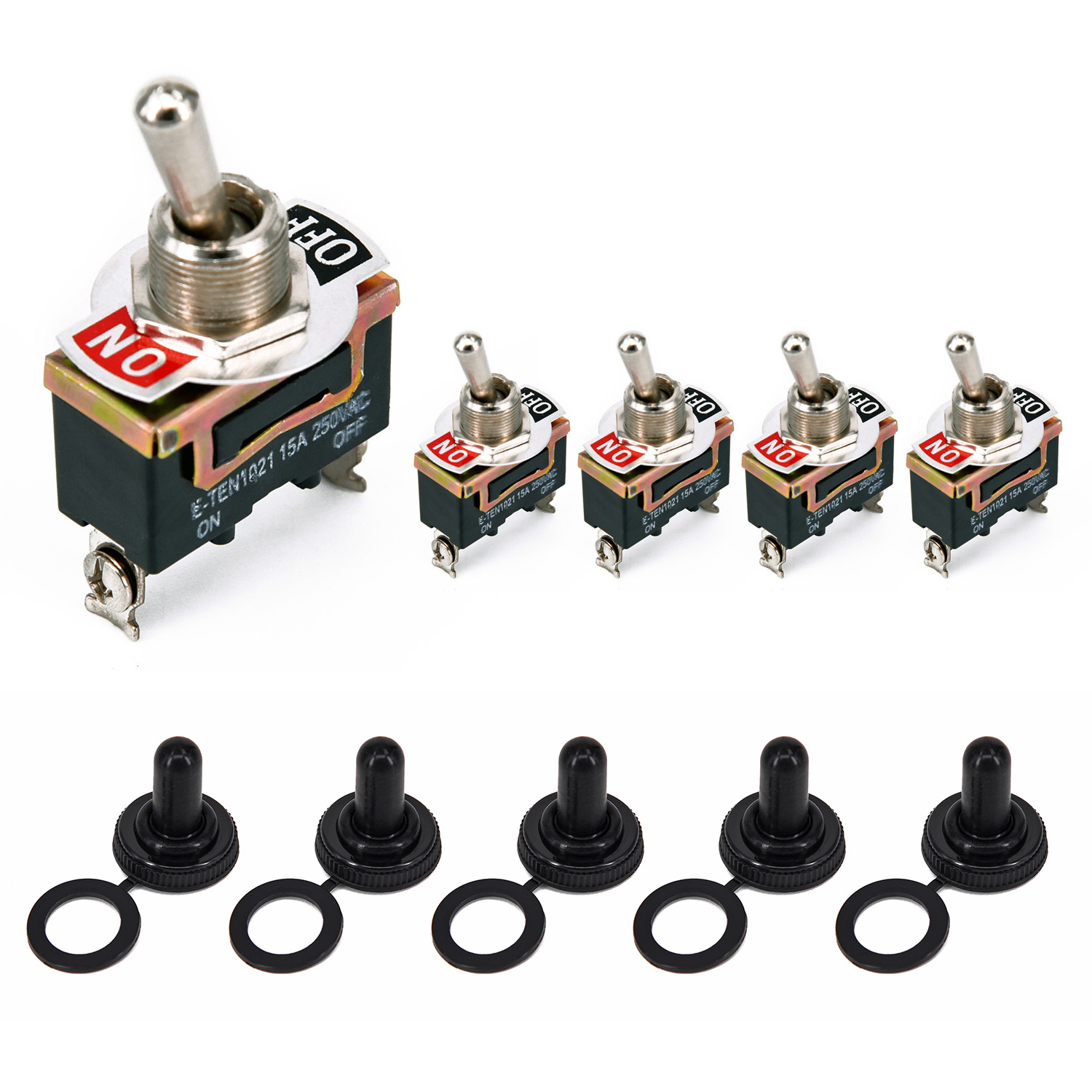 Waterproof Cover Toggle Flick Switch On//On 12v 24v