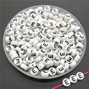 100pcs/lot 4x7mm Acrylic Spacer Beads Letter Beads Oval Alphabet Beads For Jewelry Making DIY Handmade Accessories 30