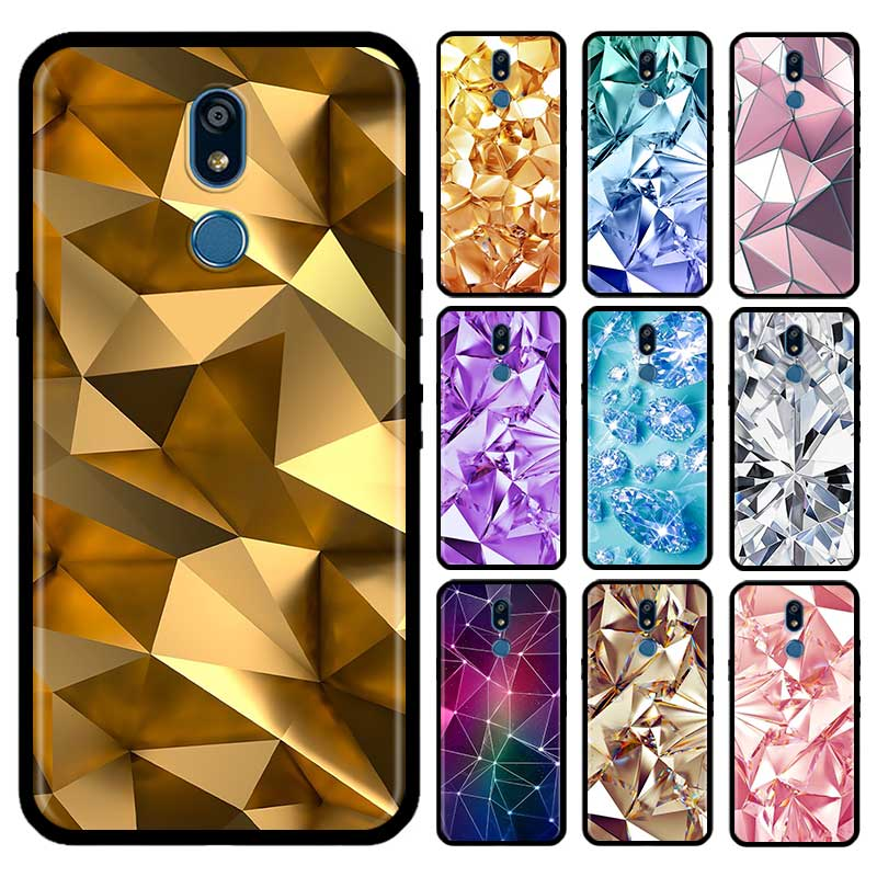 Black And Gold Diamond Case For LG G6 G7 G8 Thinq K40 K40s Q51 Q60 Q61 Q70 K41s K50s K51s K61 Tpu Phone Carcasa Capas