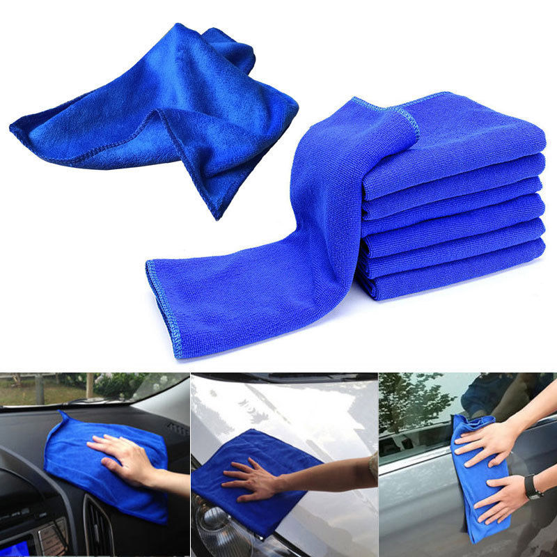 1pc Car Soft Microfiber Car Care Cloths Absorbent Wash Cleaning Polish Towel Cloth 30*30cm Detailing Towels For Car Washing-in Sponges, Cloths & Brushes from Automobiles & Motorcycles