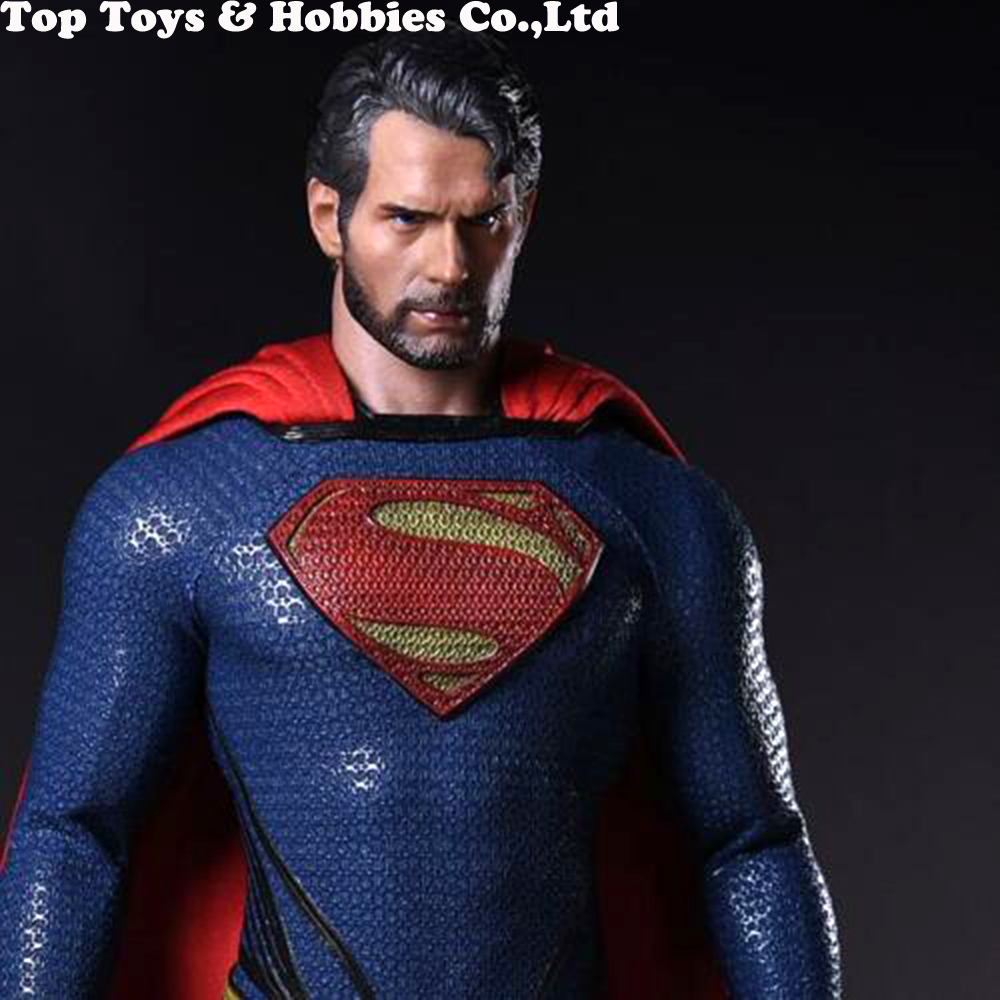 1/6 Scale Superman Henry Carvill Head Sculpt Beard Ramped Worker's Decadent Edition Headsculpt Model For 12 Inches Male Figure