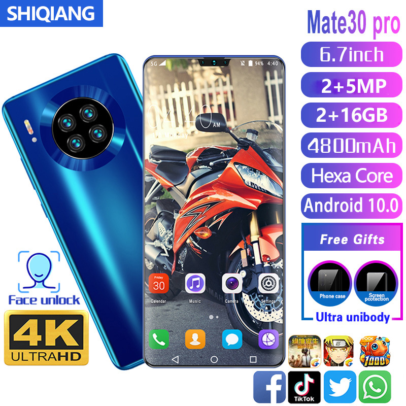 SOYES Mate30 pro Mobile Phone Android 10.0 Intelligent awaken Face Unlock 6.7