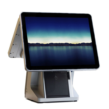 15 inch Truth Flat  Pos System double screen pos all in one point of sale For Salon/Restaurant