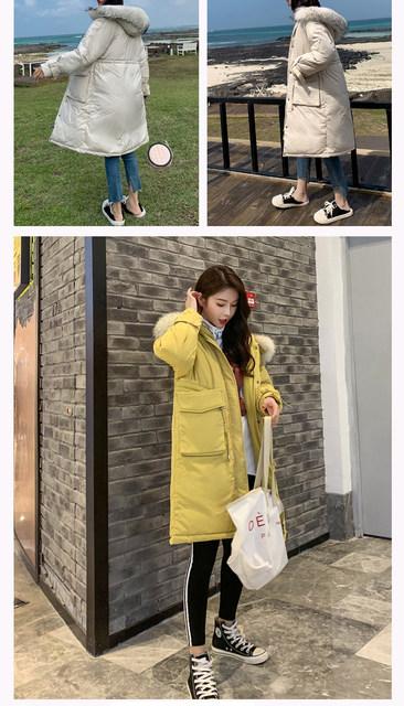 -30 Degrees Winter Women Long Parkas Jackets Plus Size M-5XL Thick Warm Big Fur Collar Female Slim Sintepon Parkas Outwear Coat 18