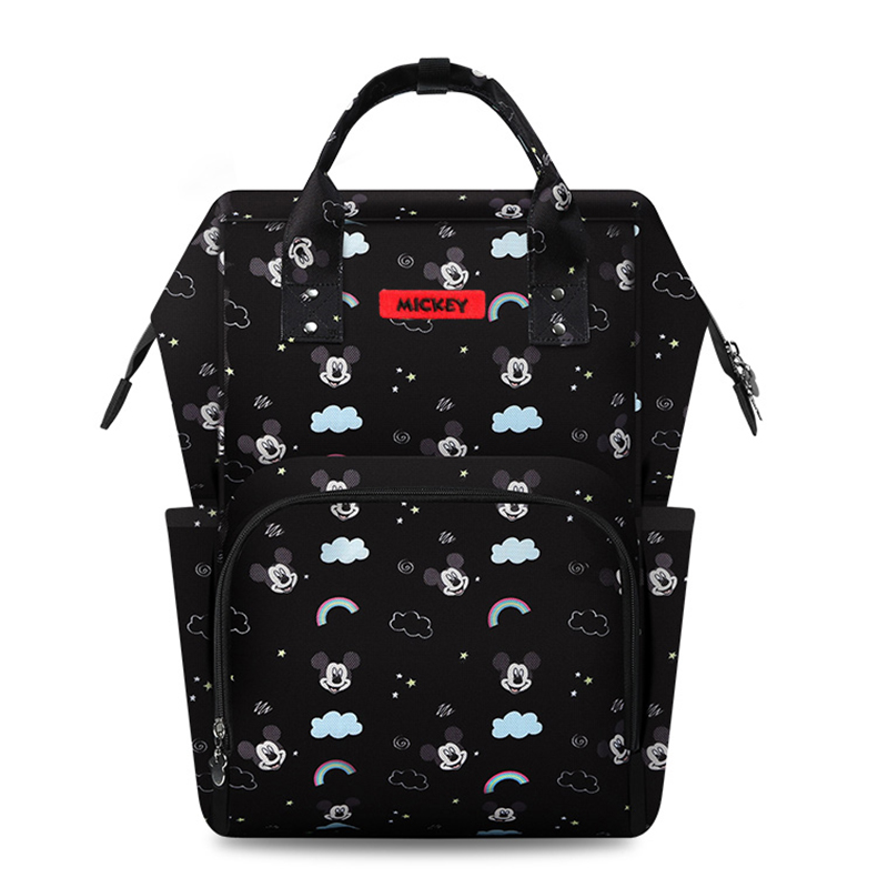 Disney Diaper Bag Backpack Mummy Insulation Nappy Bags Minnie Mickey Big Capacity Travel Oxford Feeding Baby Diaper Backpack