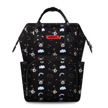 Disney torba na pieluchy plecak mumia torby na pieluchy izolacyjne Minnie Mickey duża pojemność Travel Oxford karmienie plecak na pieluchy dla niemowląt tanie tanio Poliester zipper Animal prints 30cm 22cm (30 cm Max Długość 50 cm) 0 8kg 40cm Mummy Bag Disney Bag Disney Mummy Bag