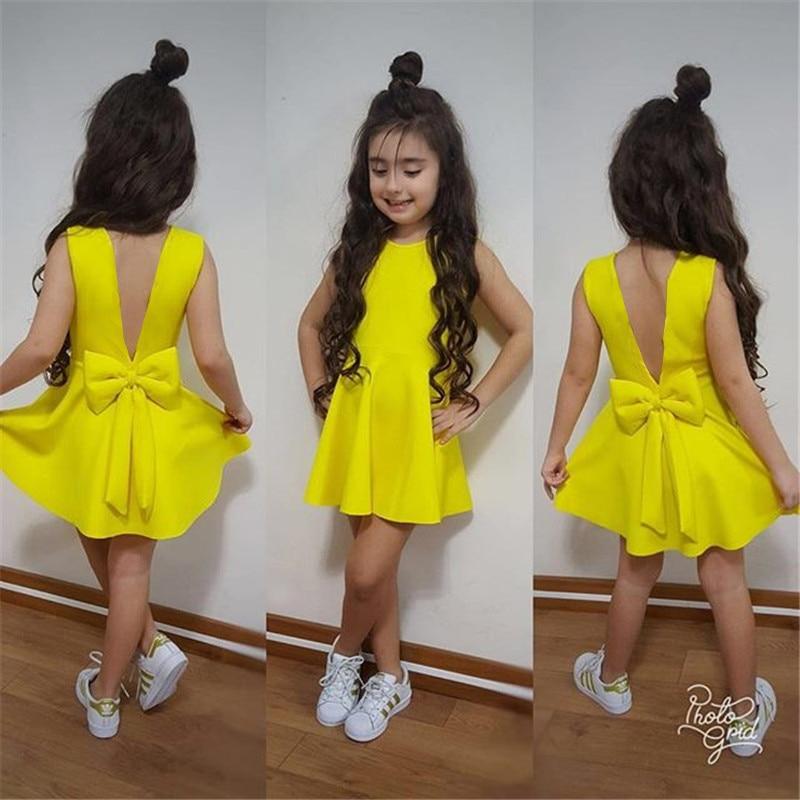 2020 New Wedding Blackless Baby Girl Clothes Kids Dresses For Girls Toddler Girl Dresses Summer Dress Princess Dress Girls Dress