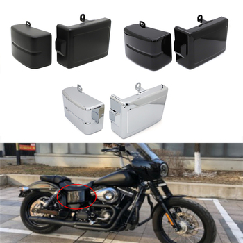Motorcycle Battery Cover Guard Left Right Side Frame For Harley Dyna Street Bob 06-14  Super  Wide Glide Switchback 2006 - 2017