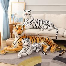 30-110cm realistyczne tygrys pluszowe zabawki wypchane dzikie siły zwierzęta leśne symulacja biały tygrys Jaguar Doll Kid prezent urodzinowy dla chłopca tanie tanio GDzaccly CN (pochodzenie) Tv movie postaci MATERNITY W wieku 0-6m 7-12m 13-24m 25-36m 4-6y 7-12y 12 + y 18 + Genius tiger