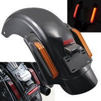 Motorcycle Black Rear Fender System LED Tail Light For Harley Touring FLTRX FLHX FLTRX FLHTCU Ultra Limited 14 Up
