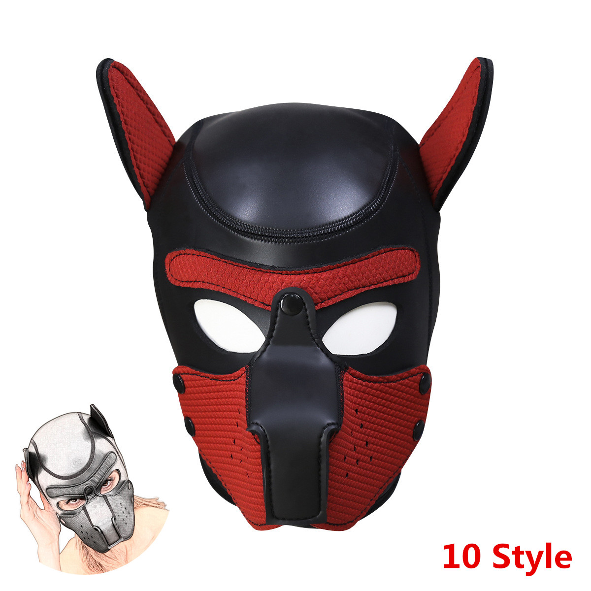 Slave Padded Latex Rubber <font><b>Dog</b></font> Hoods To Bdsm Bondage Pup Cosplay,Erotic <font><b>Mask</b></font> Costumes For <font><b>Sex</b></font>,Intimacy Goods For Couples Flirting image