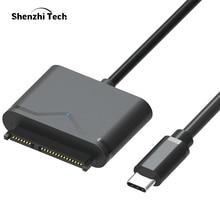 "USB 3,0 SATA Cable adaptador SATA a USB para 2,5 ""y 3,5"" SSD HDD convertidor de disco duro externo"