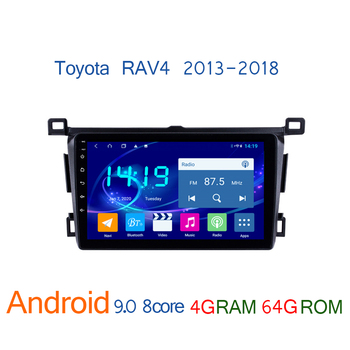 4G+64G autoradio android FOR Toyota RAV4 2013 2018 DVD multimedia player car radio coche audio auto stereo GPS navigator RAV 4 image