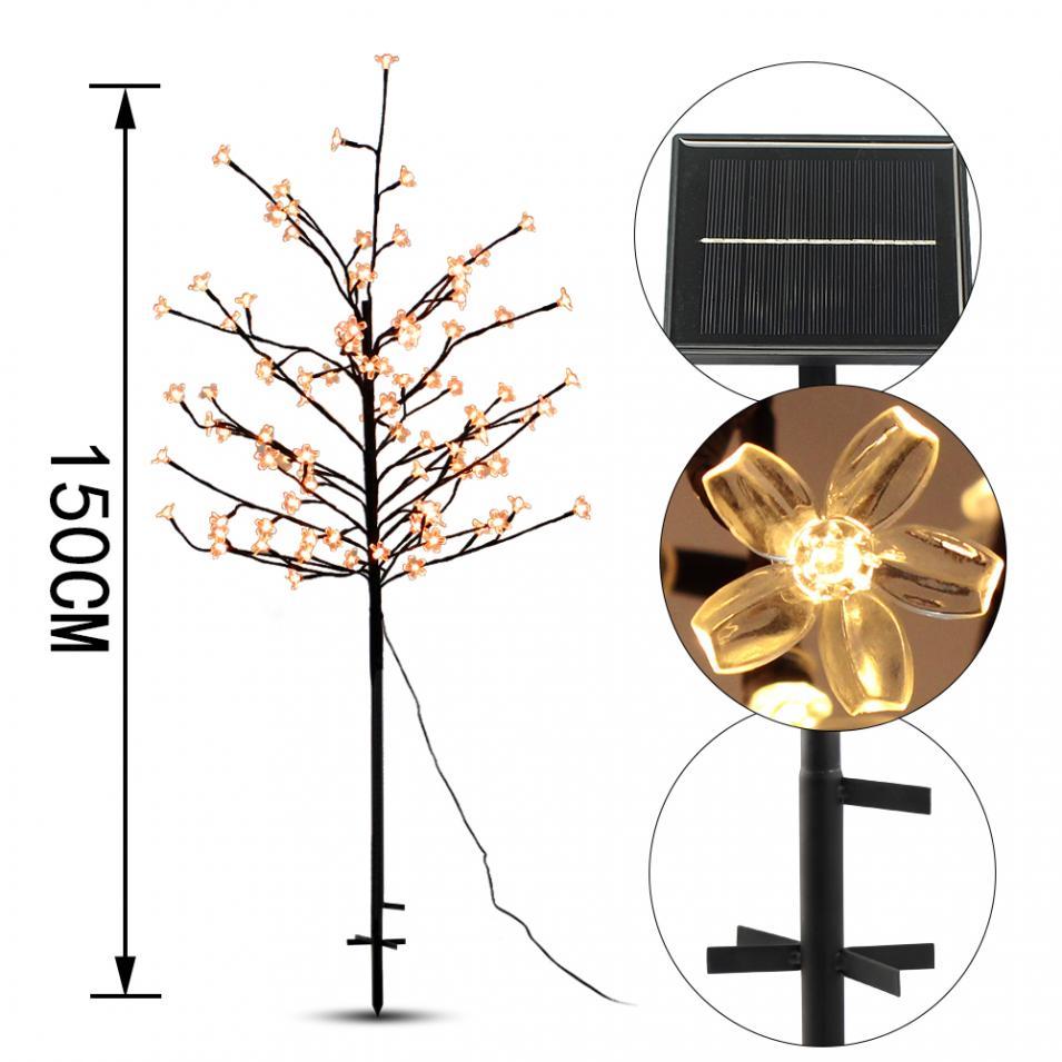 led solar cherry tree luzes para jardim