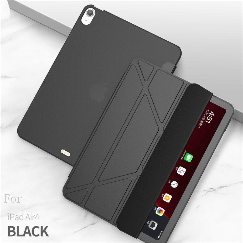 black Black Case For iPad Air 4 Case 2020 ipad Air 10 9 inch Funda Smart Stand Cover