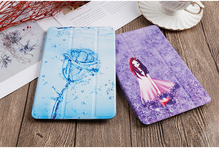 Stand For iPad PU Cover 8th Gen For 2020 Flip 10.2 Case inch leather iPad Painted QIJUN