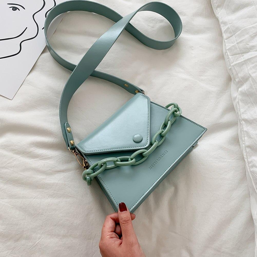 Женские сумки через плечо из искусственной кожи с толстой цепочкой 2020| |   | АлиЭкспресс
