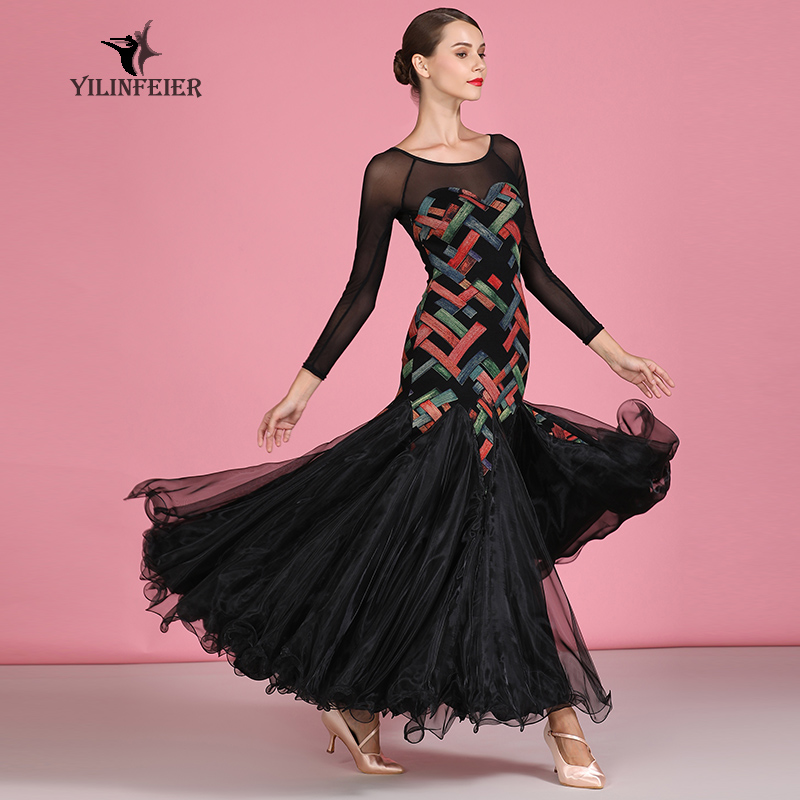 New  Ballroom Dance Competition Dress Dance Ballroom Waltz Dresses Standard Dance Dress Women Ballroom Dress 1880