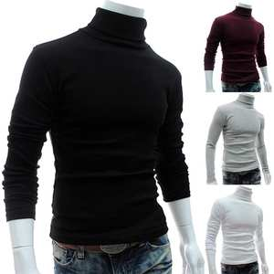 Tops Knitwear Pullover Turtle-Neck-Basic Men Long-Sleeve Autumn Casual New Spring