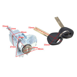 Image 3 - Conjunto esquerdo do tambor do cilindro do fechamento da porta do motorista do carro com 2 chaves para bmw série 3 e46 m3 2001 2006 51217019975