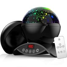 Elecstars LED светодио дный ночник детский вращающихся Star Сенсорный проектор освещения Луна Небо Рождество Дети светильник для малышей подарки для женщин настольная лампа USB датчик движения