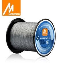 MEREDITH 4 tel örgülü PE olta 300M 500M 1000M 15-80LB Multifilament pürüzsüz olta balıkçılık Lure Bait