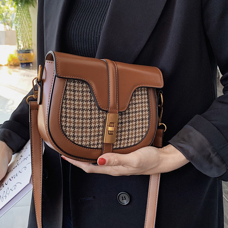 Vento Marea Small Cross Body Bag For Women 2019 Mini Quality Saddle Messenger Bag Retro Style Zipper Ladies Brown Shoulder Purse