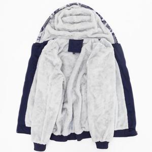 Image 5 - Mens נים ירדן 23 מודפס אופנה Streetwear הסוואה עבה מעיל 2019 סתיו חורף סלעית סווטשירט קפוצ ון גברים מעילים