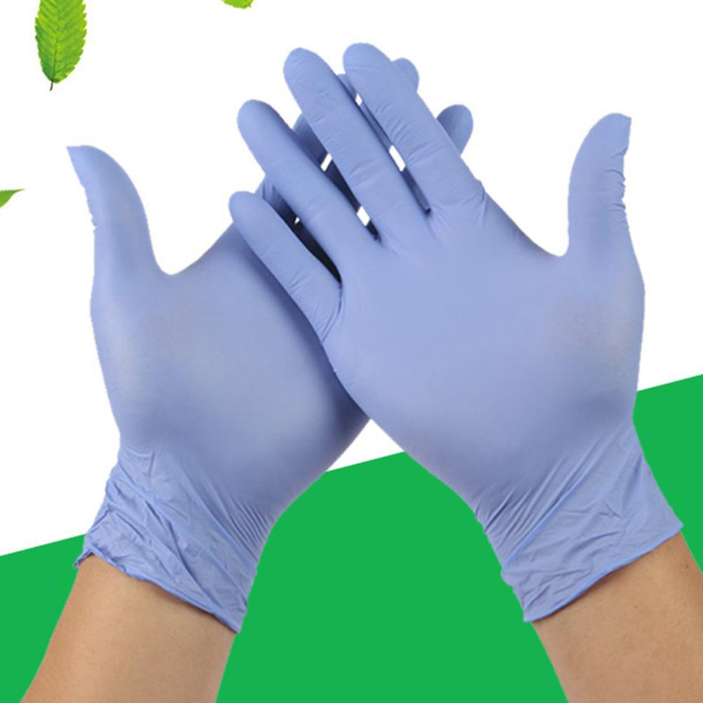 100Pcs Unisex Disposable Housework Cleaning Mechanic Protective Nitrile Gloves Protective Gloves Against Bacterial