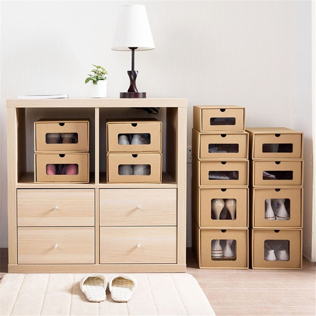 Thick Shoe Organizer Box made of Cardboard with Drawers 1
