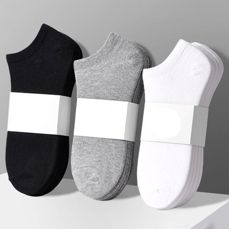 Solid-Color Short Socks Meias Business-Sock Calcetines Streetwear Cotton Unisex Women
