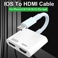 HDMI Adapter Für Iphone Ios 13 Blitz zu HDMI Kabel 4K Digital TV Konverter Für IPad Für IPhone 11X6 7 8 HDMI Conector