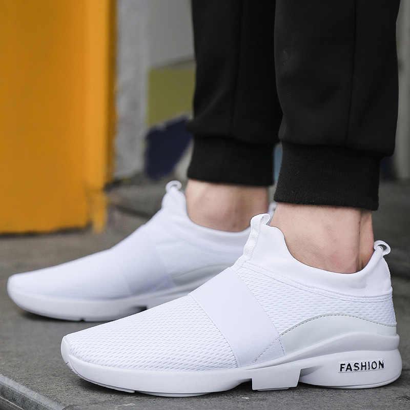 Zomer Casual Platte Schoenen Mannen Air Mesh Licht Gewicht Niet-Leer Ademend Sneakers 2019 Groothandel Sapatenis Masculino
