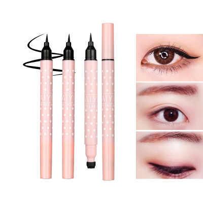 MB 1 stücke eyeliner professionelle eye liner make-up wasserdicht schwarz Präzision langlebig für schönheit Doppel kopf