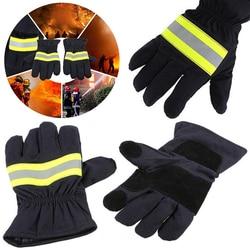 耐火手袋耐摩耗性ノンスリップ厚い安全手袋 1 ペア耐火保護手袋消防士