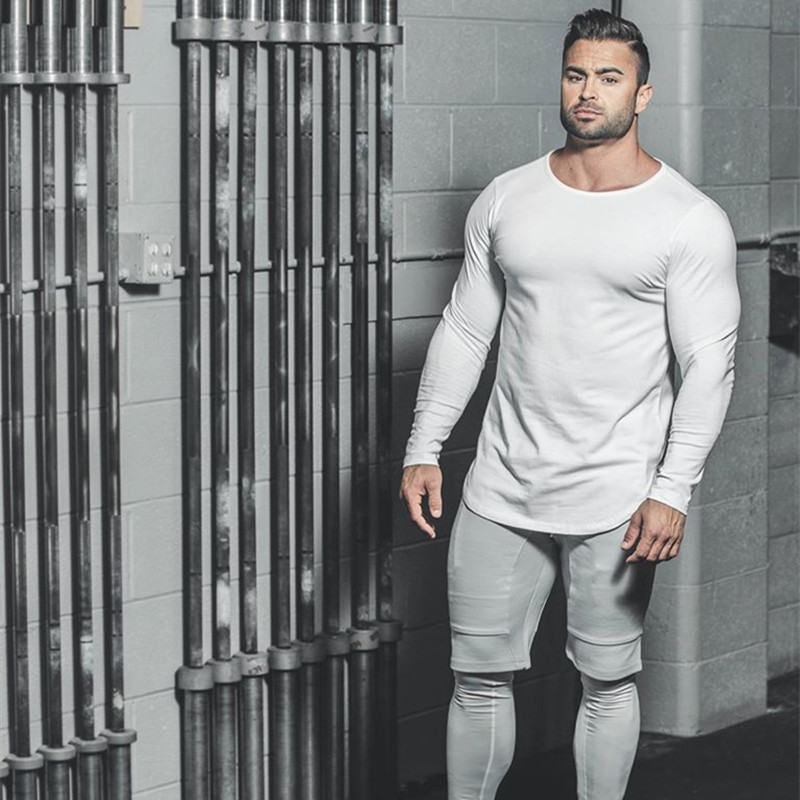 ŒPromoteT-Shirt Running-Top Muscle Aesthetic Fitness Long-Sleeve Round-Neck Sports Autumn Winter╗