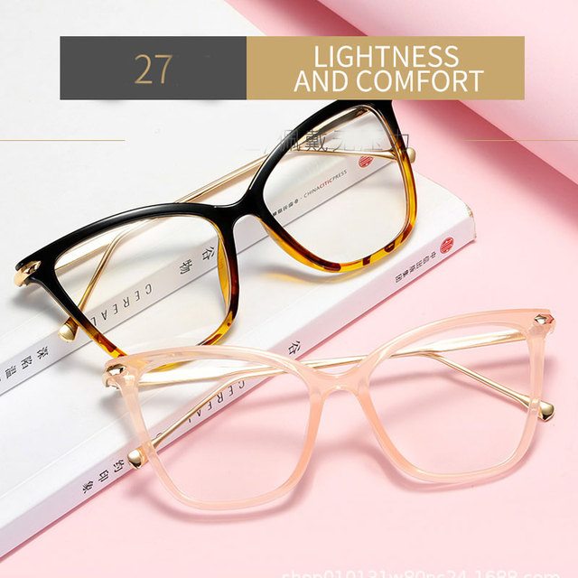 Фото 2020 оправа для очков «кошачий глаз» женские металлические очки